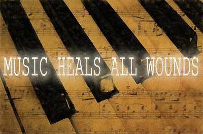 Music Heals All Wounds Art Print by Dan Sproul