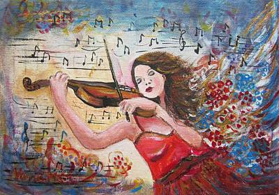 Painting - Music I by Vesna Martinjak
