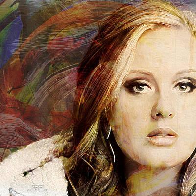 Adele Painting - Music Icons - Adele I by Joost Hogervorst