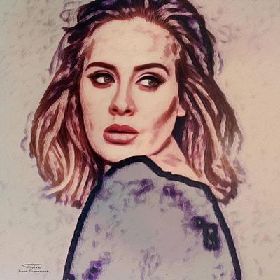Adele Painting - Music Icons - Adele Ill by Joost Hogervorst