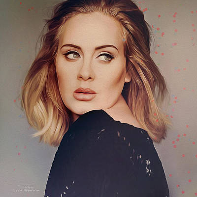 Adele Digital Art - Music Icons - Adele Iv by Joost Hogervorst