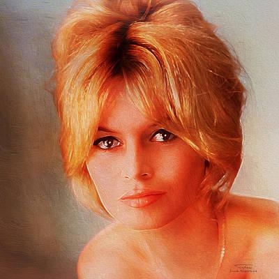 Bardot Painting - Movie Icons - Brigitte Bardot II by Joost Hogervorst