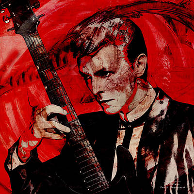 Bowie Painting - Music Icons - David Bowie II by Joost Hogervorst