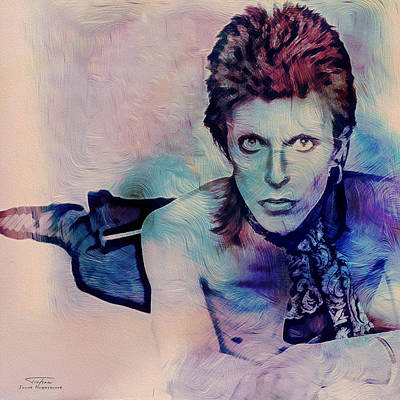 David Bowie Painting - Music Icons - David Bowie Ix by Joost Hogervorst
