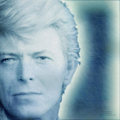 Bowie Painting - Music Icons - David Bowie Vl by Joost Hogervorst