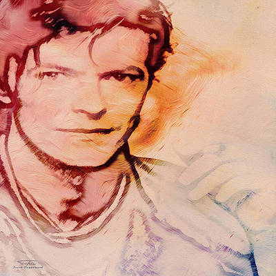 David Bowie Painting - Music Icons - David Bowie Vlll by Joost Hogervorst