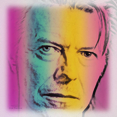 Bowie Painting - Music Icons - David Bowie X by Joost Hogervorst