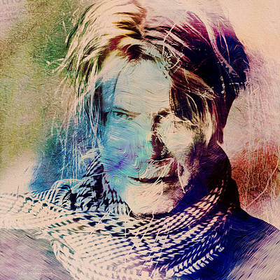 Bowie Painting - Music Icons - David Bowie Xv by Joost Hogervorst