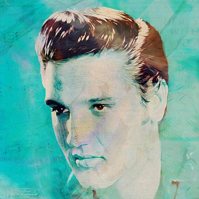 Elvis Painting - Music Icons - Elvis Presley Vlll by Joost Hogervorst