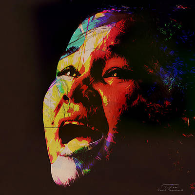 Jazz Painting - Music Icons - Etta James I by Joost Hogervorst