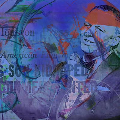 Ratpack Painting - Music Icons - Frank Sinatra Iv by Joost Hogervorst