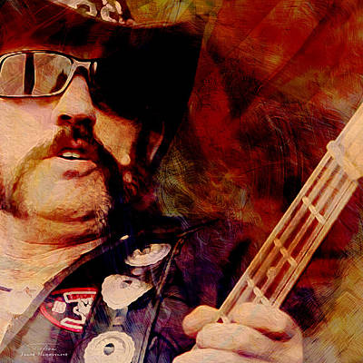 Lemmy Painting - Music Icons - Lemmy Kilmister I by Joost Hogervorst