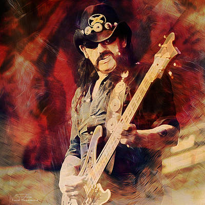 Lemmy Painting - Music Icons - Lemmy Kilmister II by Joost Hogervorst