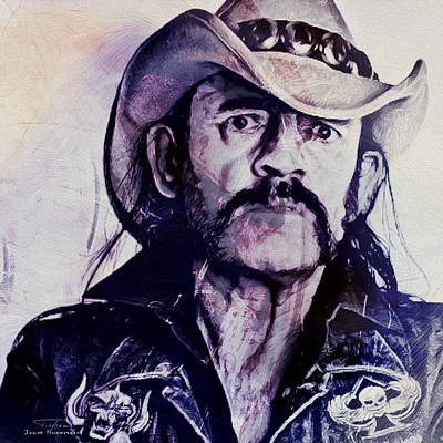 Lemmy Painting - Music Icons - Lemmy Kilmister Iv by Joost Hogervorst