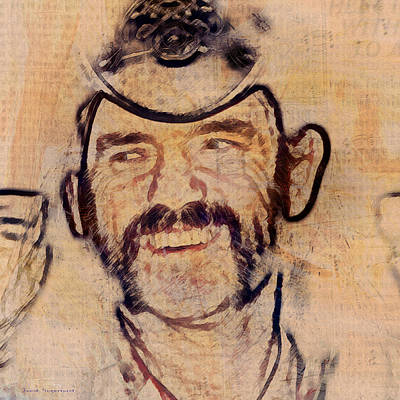 Lemmy Painting - Music Icons - Lemmy Kilmister V by Joost Hogervorst