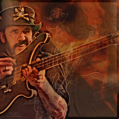 Lemmy Painting - Music Icons - Lemmy Kilmister Vl by Joost Hogervorst