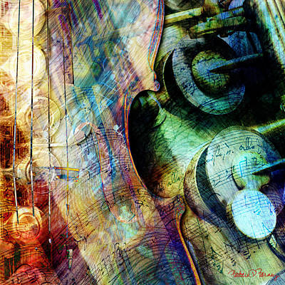 Clarinet Digital Art - Music II by Barbara Berney