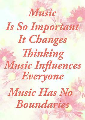 Mixed Media - Music Importance Word Art by Georgiana Romanovna