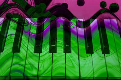 Music In Color Print by Linda Sannuti