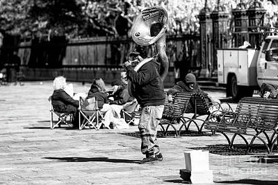 Photograph - Music In Jackson Square New Orleans by John Rizzuto