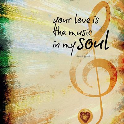 Music In My Soul Art Print by Brandi Fitzgerald