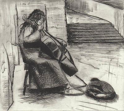 Drawing - Music In Prague  by Erik Paul