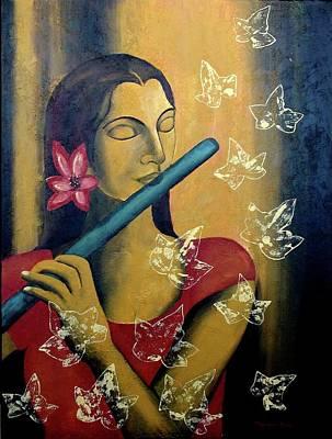 Meditative Painting - Music In Silence by Mounika Narreddy