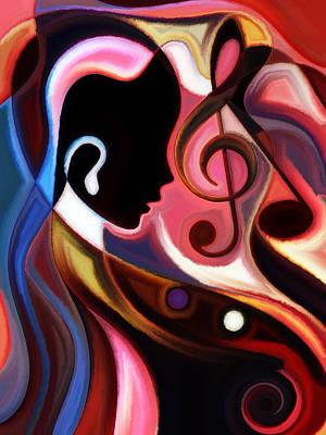 Music In The Air Art Print by Karen Showell