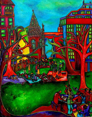 Painting - Music In The Park by Patti Schermerhorn