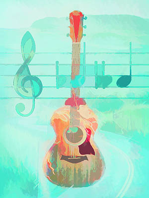 Photograph - Music Is Everything Caribbean Island Colors by Debra and Dave Vanderlaan