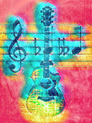 Photograph - Music Is Everything In Colors by Debra and Dave Vanderlaan