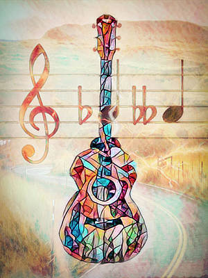 Photograph - Music Is Everything Stained Glass Effect by Debra and Dave Vanderlaan