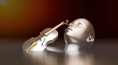 Violin Mixed Media - Music Is Inspiration by Zin Shades