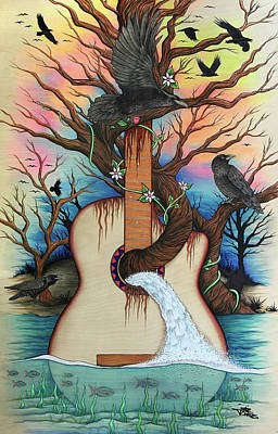 Mixed Media - Music Is My Nature by Julie Oakes