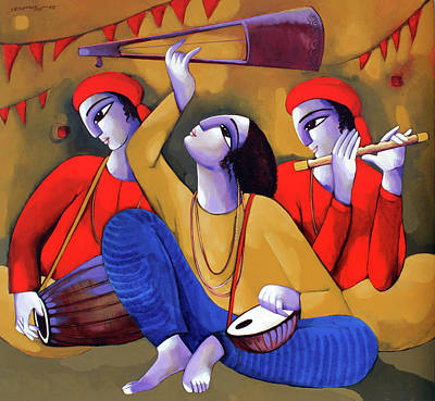 Painting - Music Iv by Sekhar Roy