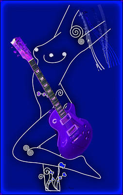 Digital Art - Music Lady by EricaMaxine  Price