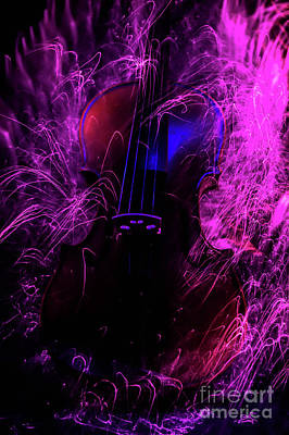 Photograph - Music Light Painting  by Gerald Kloss