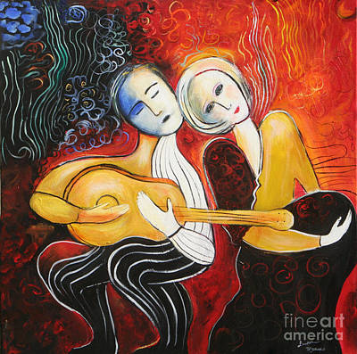 Painting - Music Lovers 2017 by Lauren  Marems