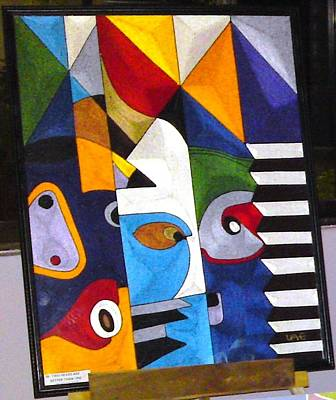 Tapestries Textiles Painting - Music Maker by JoK