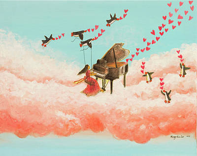 Love Making Painting - Music Makers by MaryAnn Loo