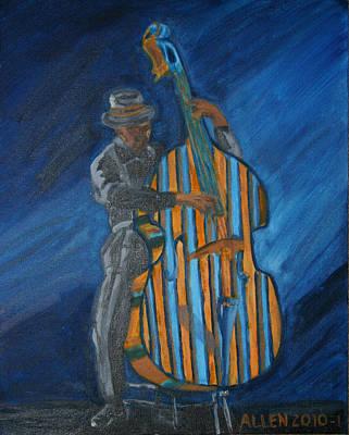 Bassist Painting - Music Makes Me Bass by Cassandra Allen