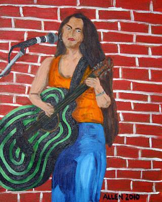 Music Makes Me Guitar Original by Cassandra Allen