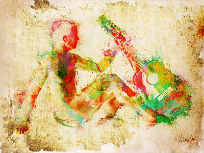 Nude Digital Art - Music Man by Nikki Marie Smith