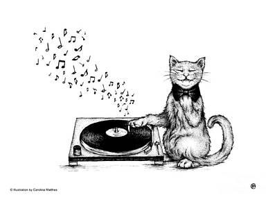 Drawing - Music Master by Carolina Matthes
