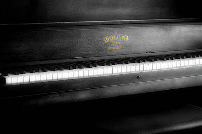 Music Merrifield Vintage Piano Art Print by Thomas Woolworth