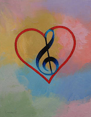 Music Note Art Print by Michael Creese