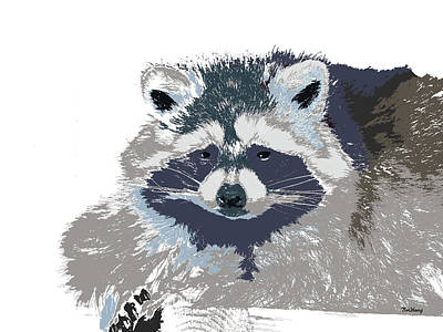 Raccoon Digital Art - Music Notes 29 by David Bridburg
