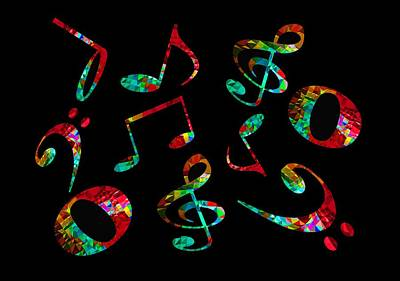 Digital Art - Music Notes by John Stuart Webbstock