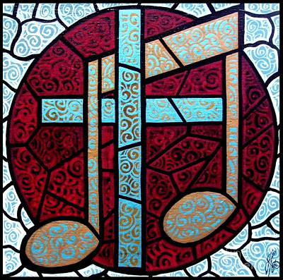 Art Print featuring the painting Music Of The Cross by Jim Harris
