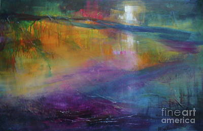 Art Print featuring the painting Music Of The Night by Mary Sullivan